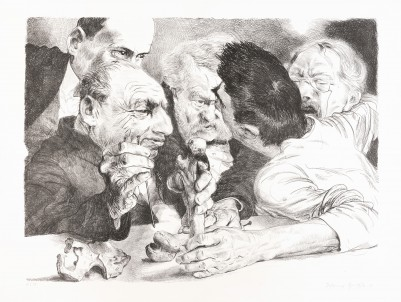 Grützke, Johannes, Knochenmänner, Einzelgrafik
